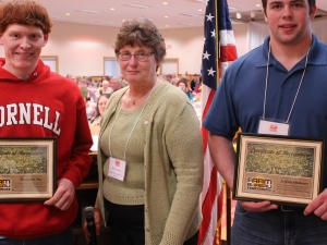 Cattaraugus County Farm Bureau Scholarship Awardees. Credit: Rick Miller of the Olean Times Herald