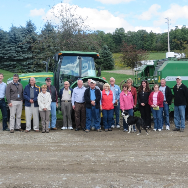 Ag Tour group at SnowBrook Farms in Great Valley, NY